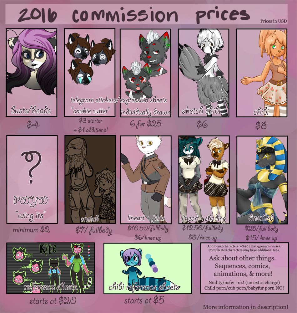 Updated Commission Prices