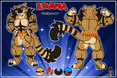 Kujura the Incineroar ref sheet