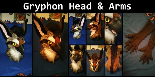 Gryphon head & arms SOLD