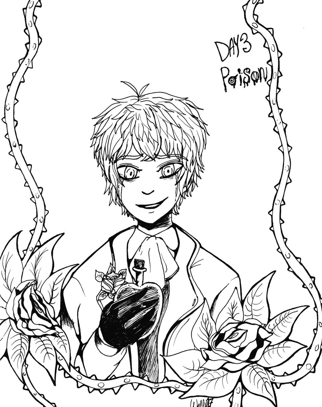 Inktober17 Day 3: Poison