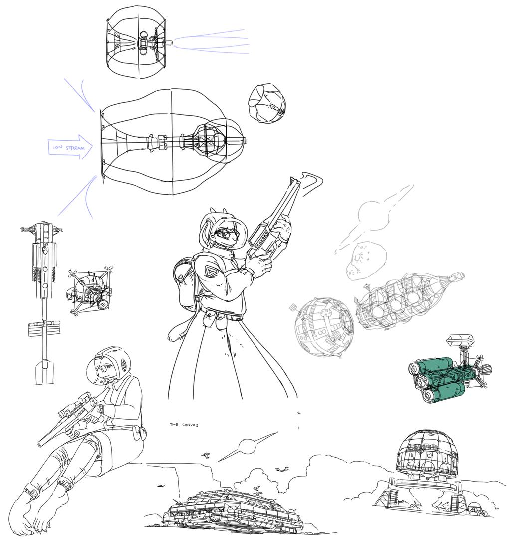 sketchdoodles: science fiction 1
