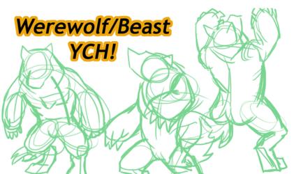 *New Video! Werewolf/Beast Speed Drawing