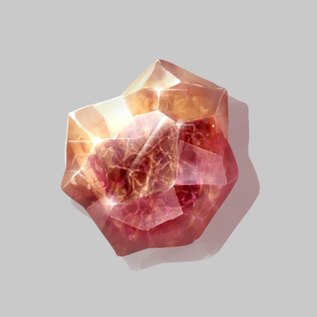 Textured crystal