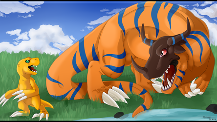 Agumon and Greymon