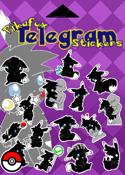 Pikafox Telegram Stickers!