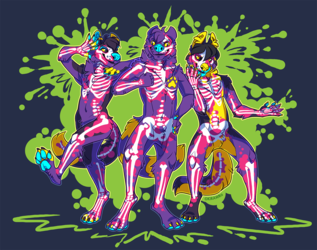 Radioactive Knotty, Koondog, and Yellue