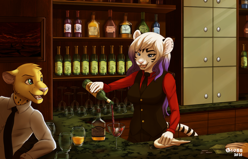 Commission - Working At The Bar