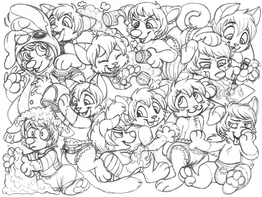 bobkitty & sila sketchpage commission (babyfur)
