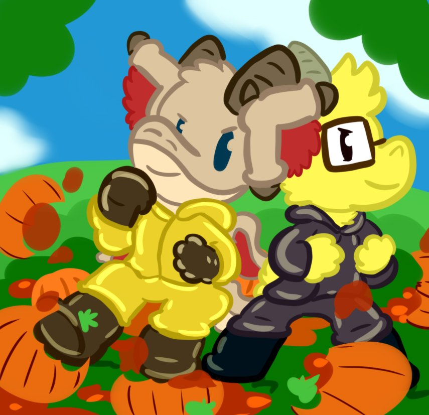 [by Cosuman] Sedric and Charlie Smash some Pumpkins