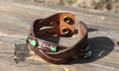 Bison Brown Braid with Turquoise