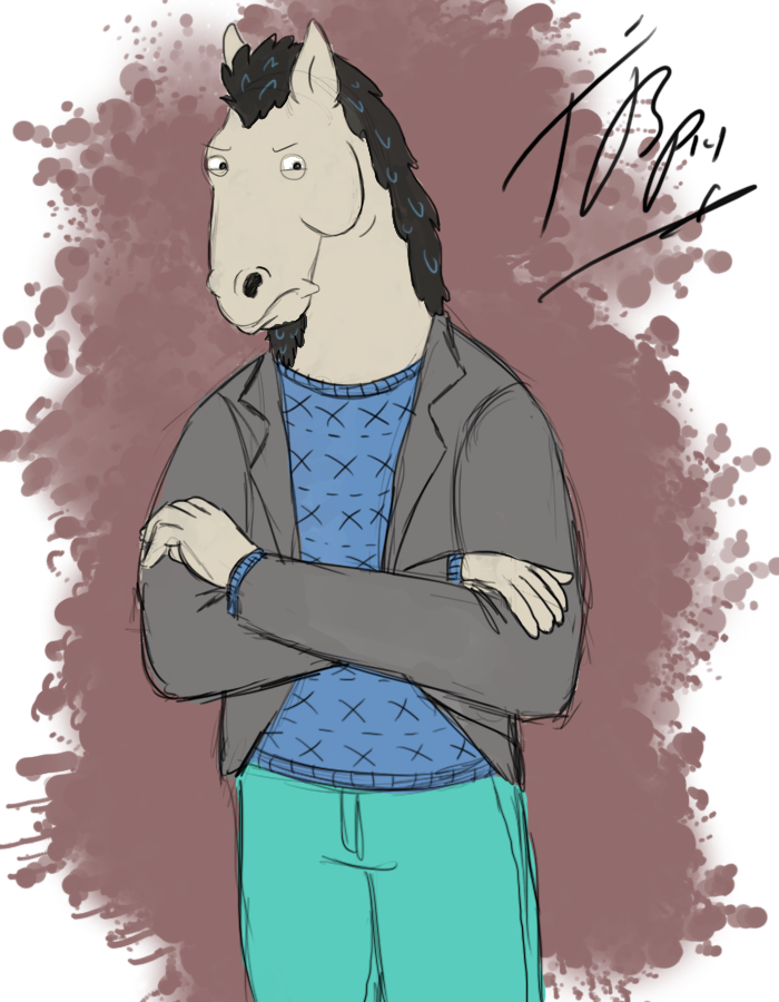 Halloween Sketch - Manestream as Bojack Horseman