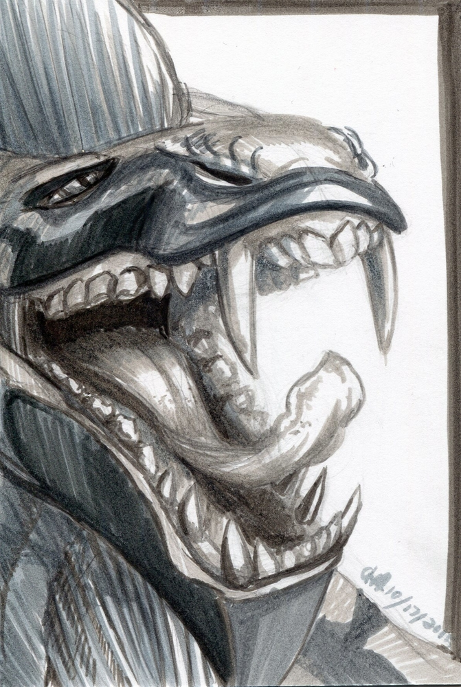 Inktober #17: Sassy Skjell Yawn