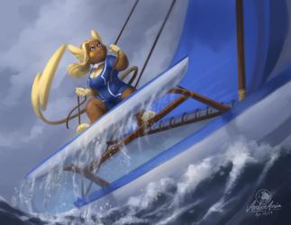 Raichu on the Canoe