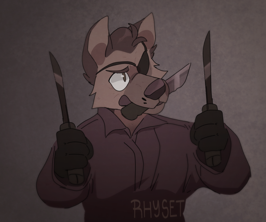 Dog with Knives
