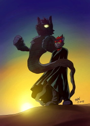 It's a nice view right Dark Shadow? - Art by HiitsY