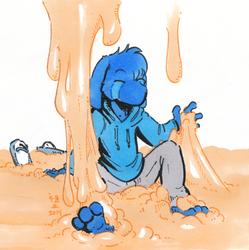 [flat colour] blueGELF is a goo-GELF