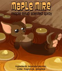 Maple Mire Fursuit Spray label design