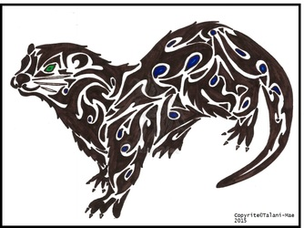 Tribal Otter, Totem Animal, Personal Art