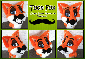 Toon Red Fox- Fursuit Head