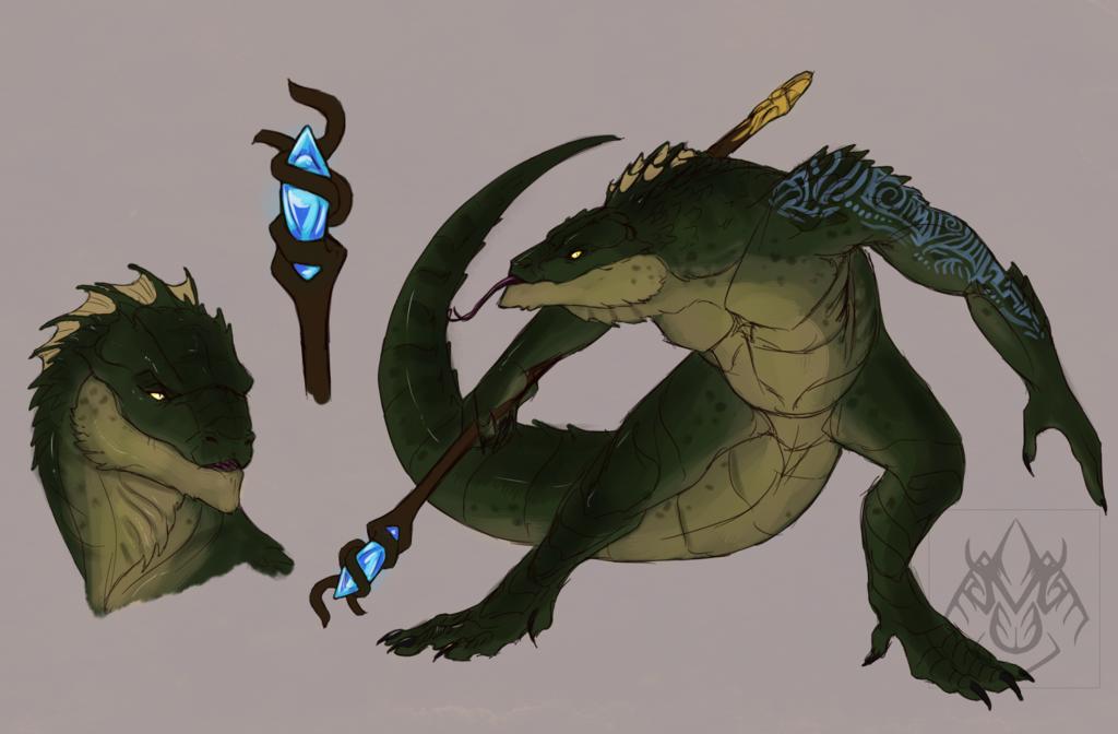 Coatl, Dark Lizardman Mage