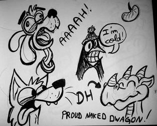 proud naked dwagon