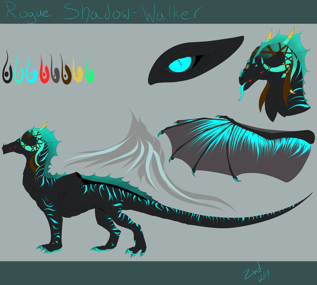 Rogue Shadow-Walker reference sheet -Commission for Rogue