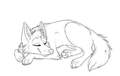 Free Lineart: Sleeping doge