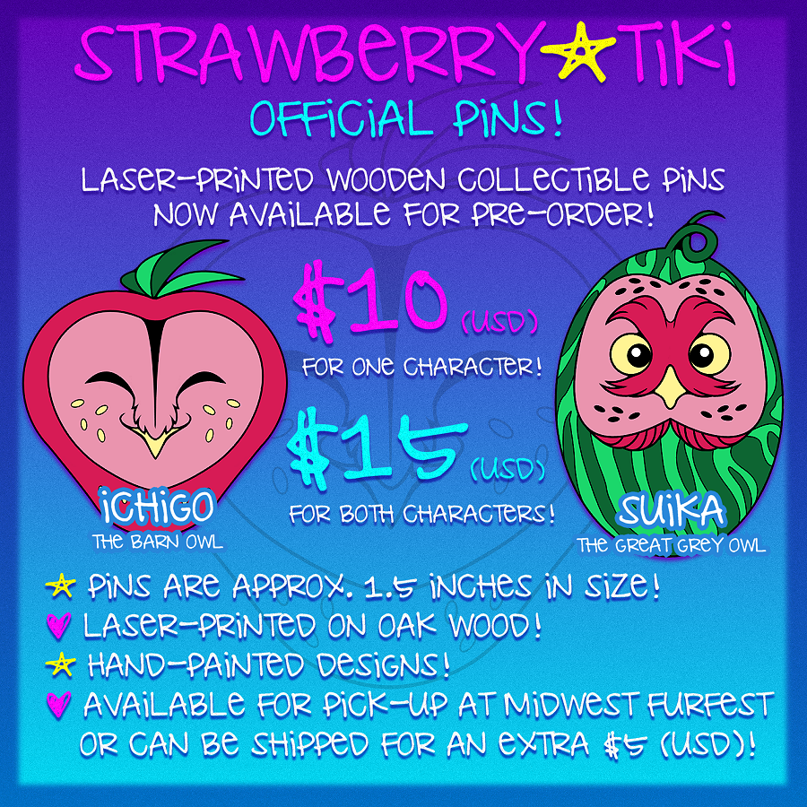 StrawberryTiki Collectable Pins (PRE-ORDER)