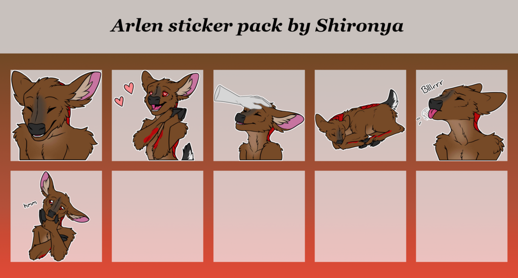 Arlen telegram sticker pack extension