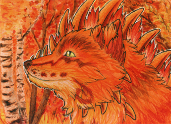 ACEO/ATC: Fiery Autumn