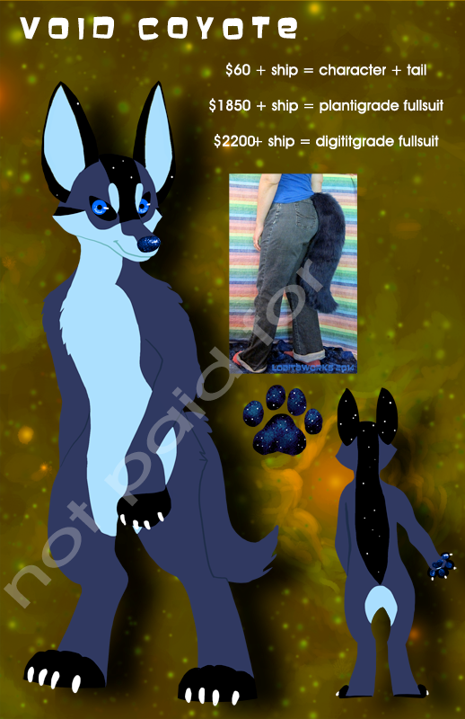Void Coyote Design + Tail for Sale