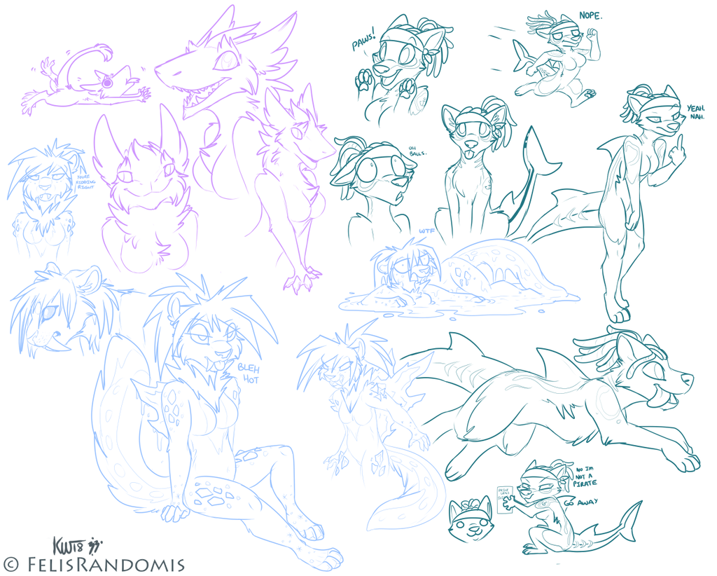 [Patreon] SpaceSpazz Sketch Page