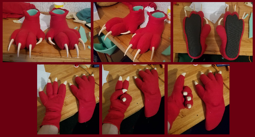Red WIP - Finished Feet and Hands