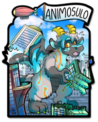 Animosulo Kaiju Badge