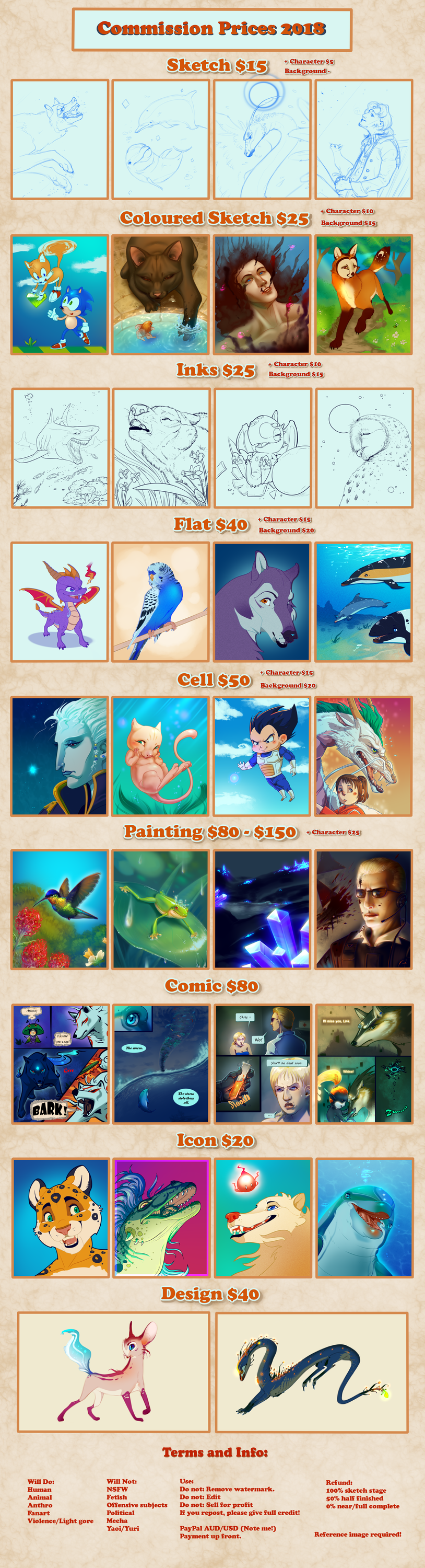 Commissions 2018 (CLOSED!)
