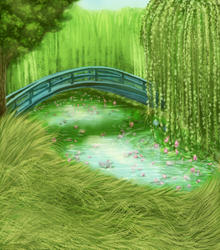 Pet Sim Background - Japanese Bridge