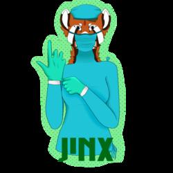 Jinx Con Badge (Fleeting_sparrow)