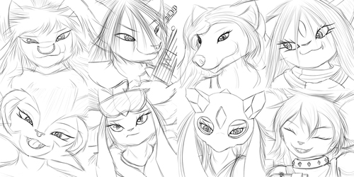 Expression Sketches 33-40