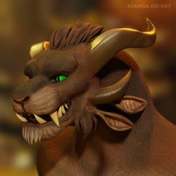 Snackers the Charr - Sculpting Commission