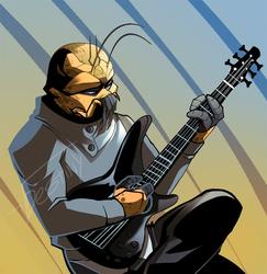 Guitar Alien (COMMISSION)