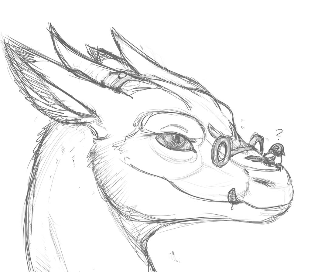 Head studies for Malik the dragoness
