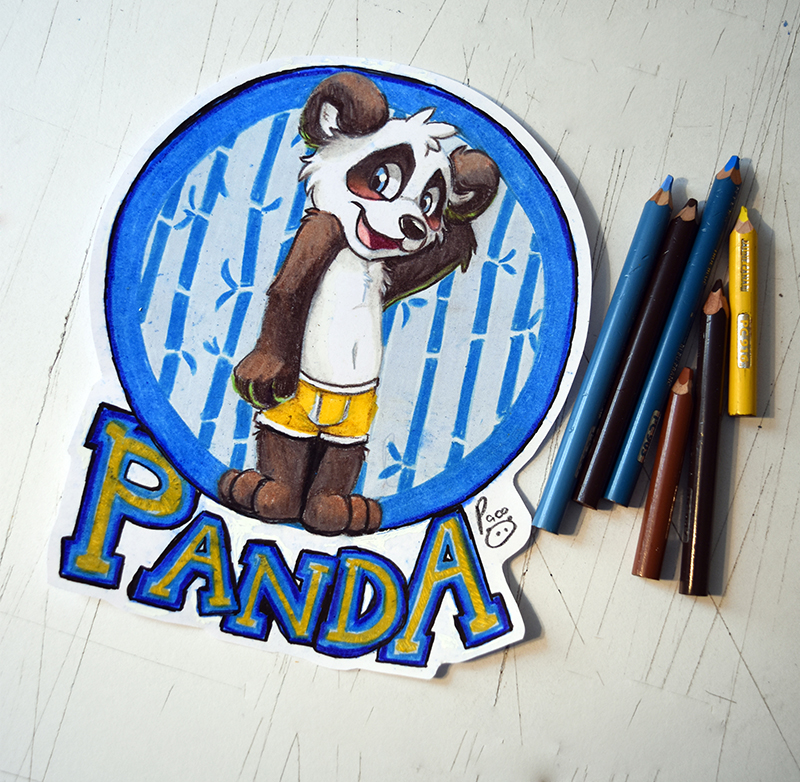 Most recent image: BLFC badge: Panda
