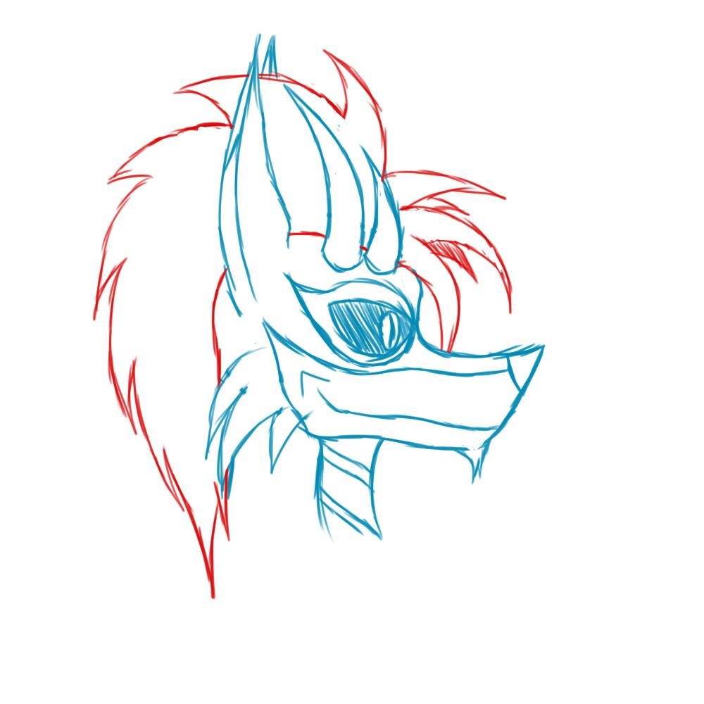 Most recent image: Jestre Fursuit Head Concept