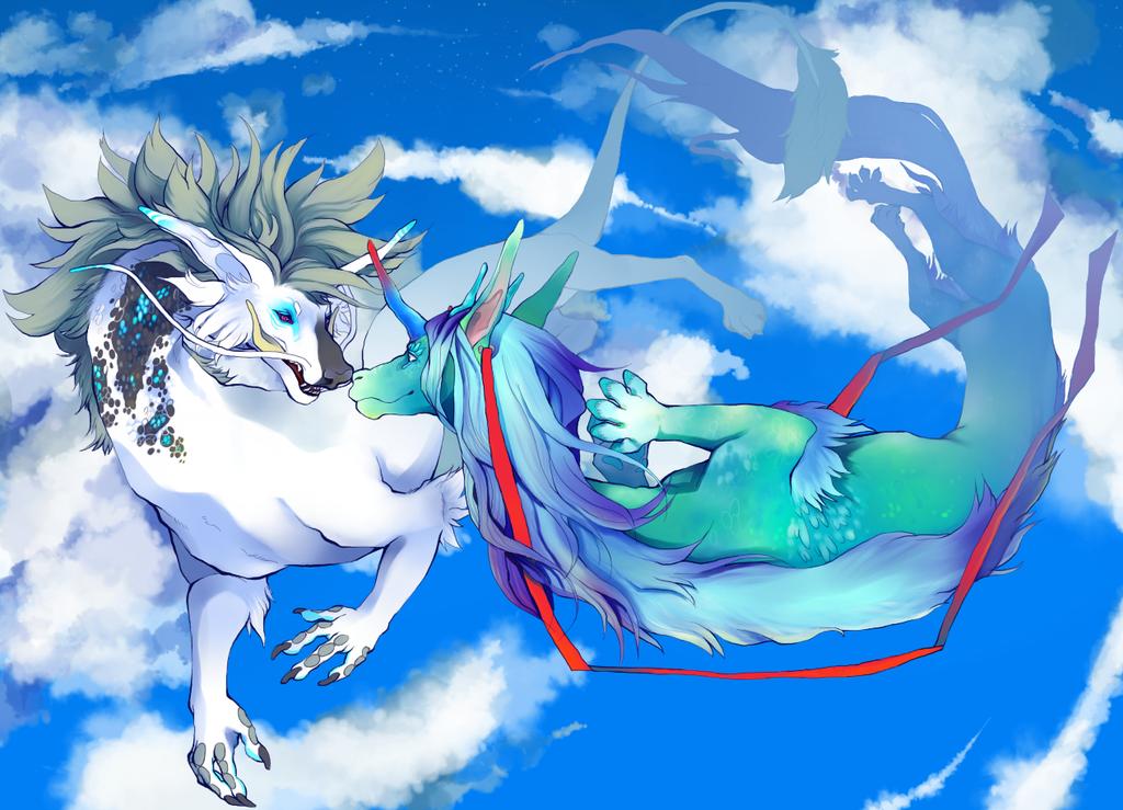 Heaven and sea.