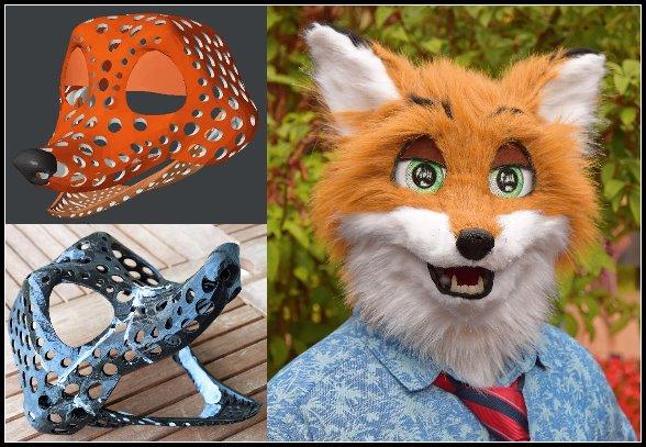 How I made my fox fursuit head