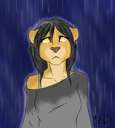 In the rain, your tears doesn't show