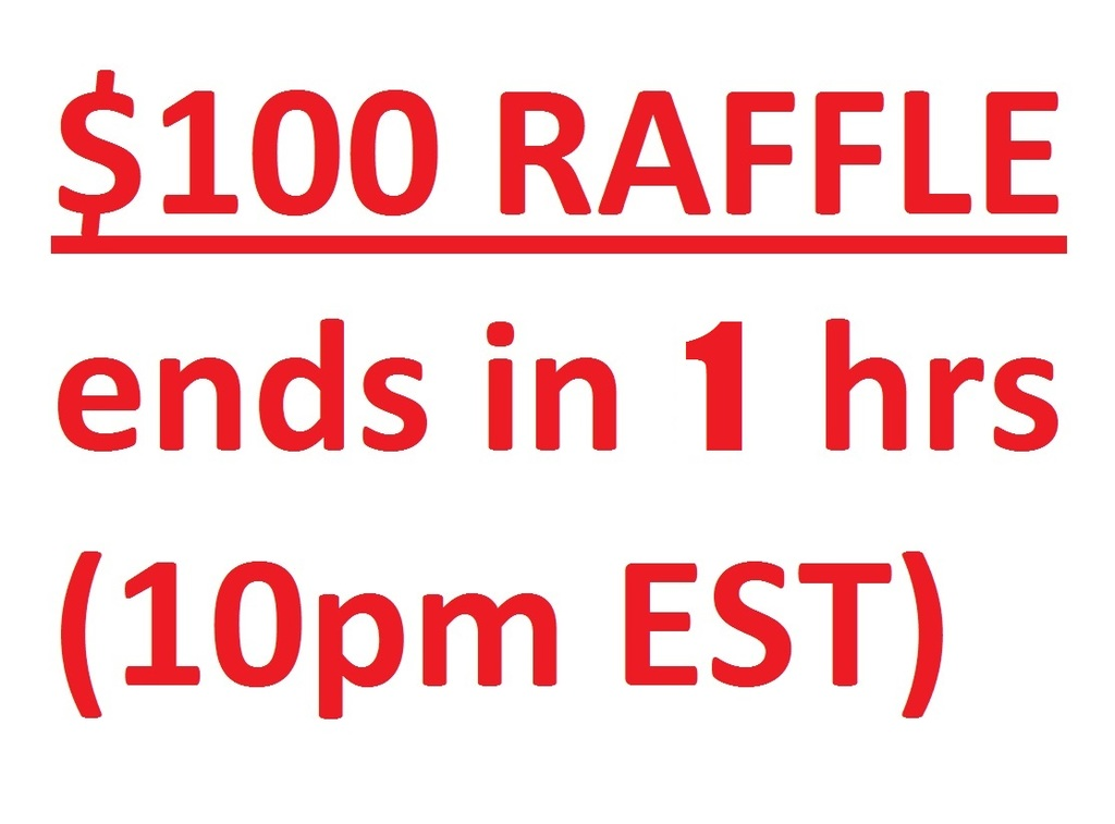 Raffle -- Final Warning (LESS THAN 1 HOUR!!)