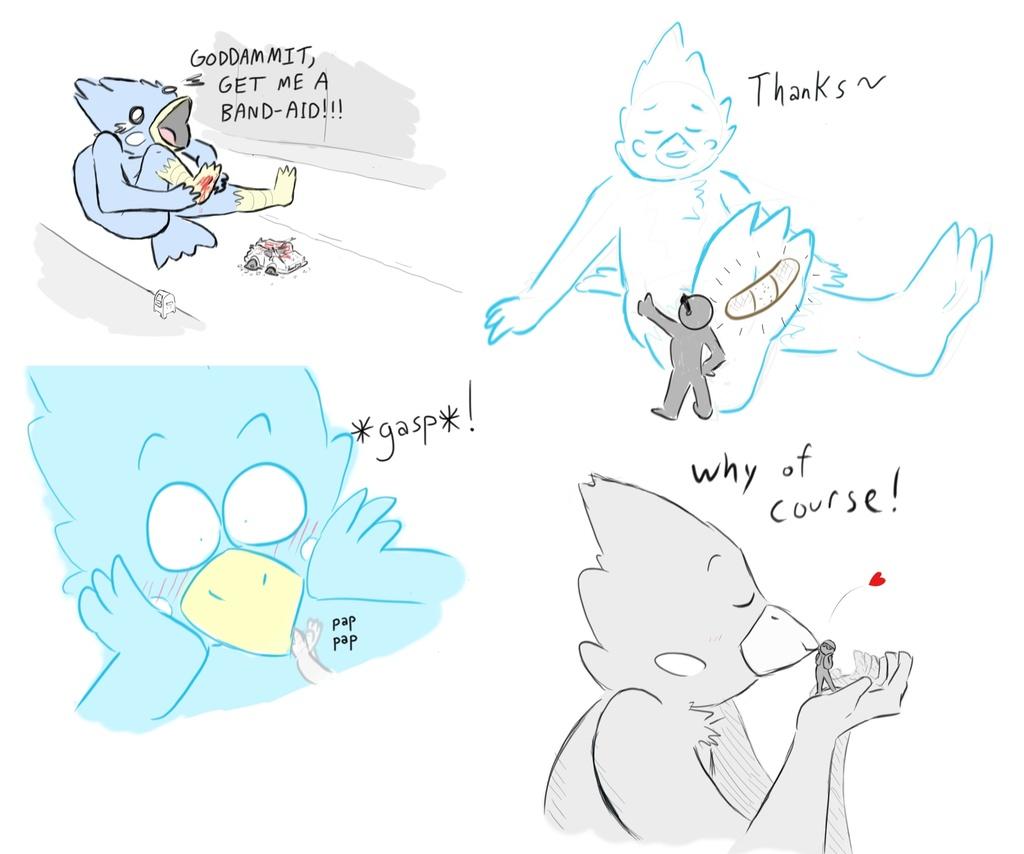 big blue bird