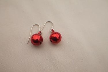 Red Jingle Bell Earrings