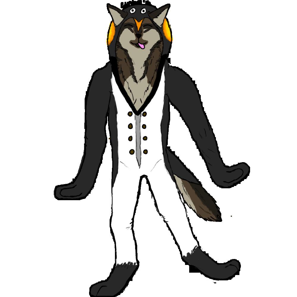 Most recent image: Wolf in Penguin Onesie